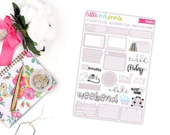 Light Lavender Functional Sampler Number 2, Planner Stickers for the Erin Condren Life Planner, Sampler Sheet - [FS0050]