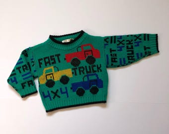 1980's Truck Knit Sweater (12 months)