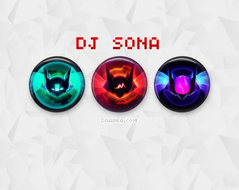 DJ Sona - Kinetic, Concussive & Ethereal (Pin-Back Buttons)