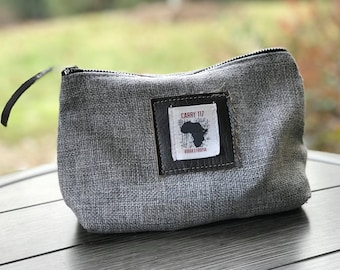 Makeup Bag, Handmade, Fairtrade, Canvas, Burlap, Ethiopia, Africa