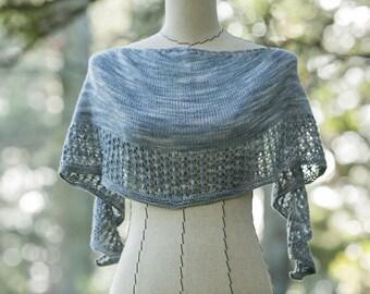 NEW 2015 Crescendo Shawlette PDF Knitting Pattern