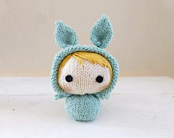 Mini Bunny Baby Grace, Cute Stuffed Animal, Bunny Stuffed Animal, Ready to ship