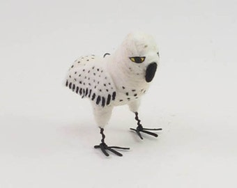 Vintage Inspired Spun Cotton Snowy Owl Ornament/Figure (MADE TO ORDER)
