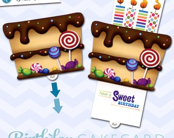 Birthday Greeting Card  |  Have a Sweet Birthday CakeCard | Interactive-Pop-up Greeting Card