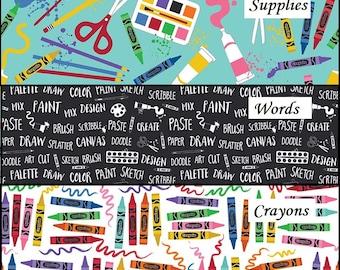 Art Box Fabric Bundle, Art Supply Fabric, Riley Blake Designs Fabric, Choose Your Bundle Size