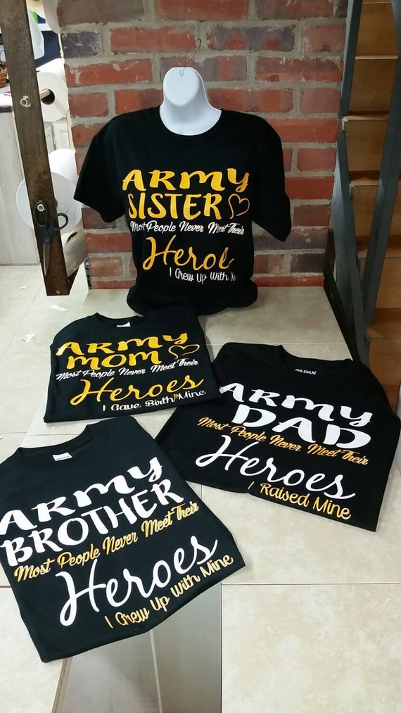 Army family day graduation soldier pride tee set of 4 for Custom military unit t shirts