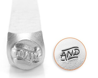 And Symbol Metal Design Stamp ImpressArt- 6mm  Design Stamp-Steel Stamps