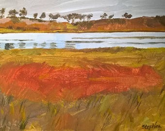 Original acrylic painting - Threipmuir Reservoir