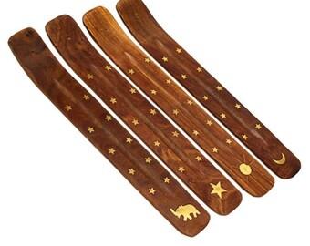 Incense Holder | Wood/Brass Incense Holder | Wooden Incense Burner