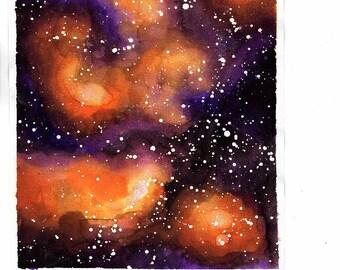 orange and purple galaxy