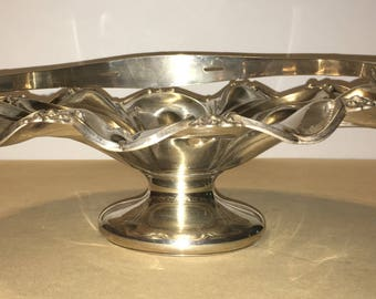 Silver Bride's Basket by F. Curtis & Co. Hartford Conn.