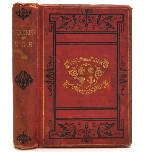 Memories by M.G.R. Hardcover HC 1887 M & S Eaton, Dublin - Poetry Verse