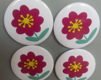 Magnets placed flower pattern