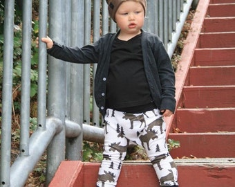 Baby Harem Pants | Grow With Me Pants | Baby Harems | Baby Joggers | Hipster Baby Pants | Toddler Harem Pants | Moose Baby Pants
