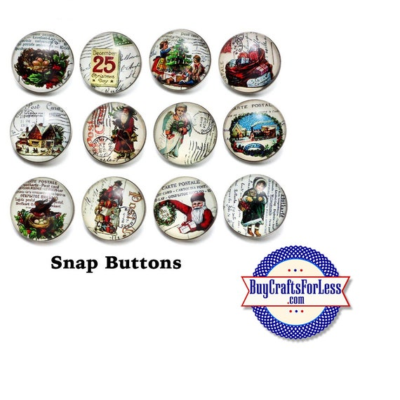 SALE! SNAP CHRiSTMAS Buttons, 18mm INTERCHaNGABLE Buttons, 12 designs +FREE Shipping & Discounts