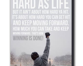Rocky Balboa Quote Movie Canvas Wall Art Print - Various Sizes