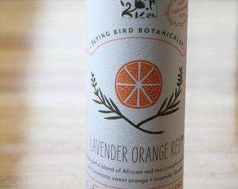 0422 Lavender Orange Red, organic loose leaf tea