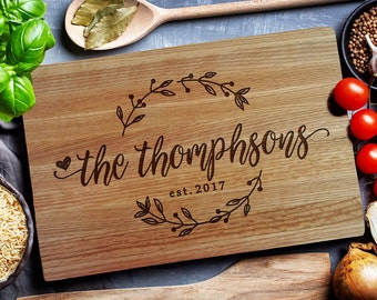 HOME & LIVING, Custom Cutting Board,  Personalized Cutting Board, Custom Cheese Board, Wedding gift,  Personalized closing gift (209)