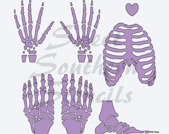 "SMALL X-Ray/Bones Stencil (no larger than 2"" each)"
