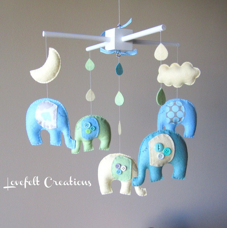 Baby Mobile Baby Crib Mobile Eli Elephant Mobile Nursery