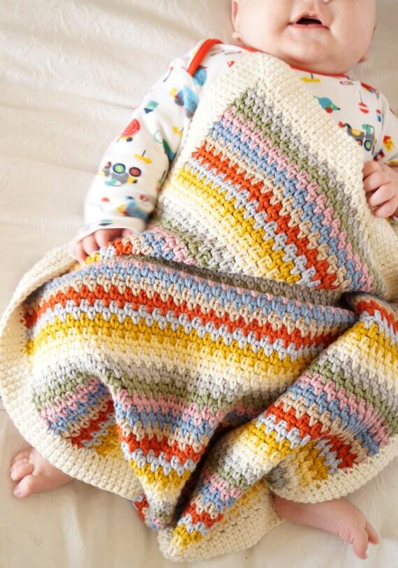 Crochet bebé afgano patrones fácil patrón de principiante