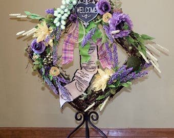 Large Spring,Summer Welcome Wreath