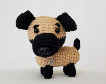amigurumi dog / stuffed dog / miniature animals / plush dog / crocheted dog / crochet dog /