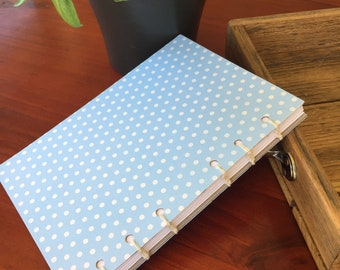 Handmade Stitched Notebook Baby Blue