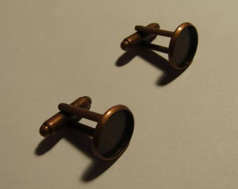 a pair of colorful cufflinks for 12mm cabochon