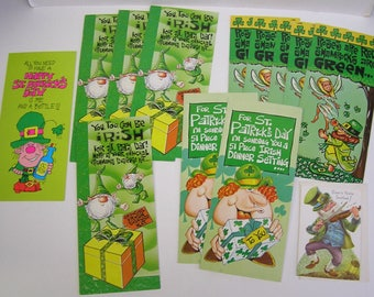St. Patrick's Day Greeting Cards Vintage Unused Collection of 13