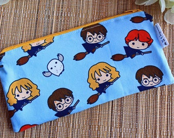 Harry Potter,Hermione,Ron Weasley,Pencil case,Zipper pouch,Kids pencil case,Cosmetic case,Make Up bag,Teacher gift,Hedwig,Teens
