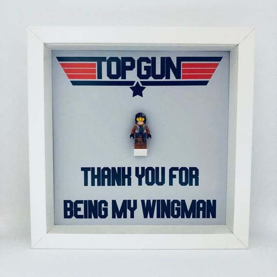 """Best Man """"Thank You For Being My Wing Man"""" Minifigure Frame"""