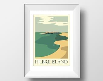 Hilbre - Wirral, Hilbre Island - Travel Poster, thejonesboys - the jones boys - Mersey