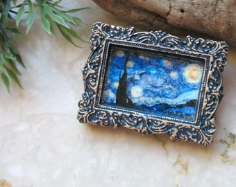 Van Gogh brooch, Starry night