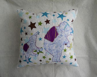 Elephant Throw Pillow for Kids Bedrooms