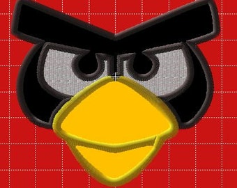 Embroidery Design Applique Angry Bird 4in hoop AND 5x7 hoop
