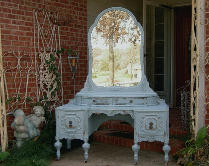 VANITY In Your Color! Order Your Own Antique Vanity - Shabby Chic Makeup  Vanity - - Red Barn Estates