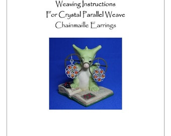 PDF Instructions For My Parallel Crystal Chainmaille Earrings