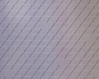 Triangles Embossed Blank Note Cards, Embossed Blank Cards, Embossed Blank Greeting Cards Set of 10