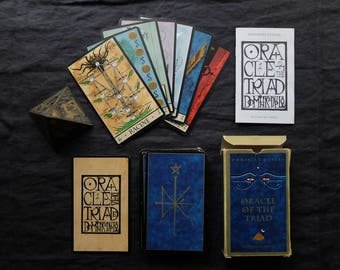 Oracle of the Triad / de la Triade. Very rare. Divination deck + booklet (English French). Mythology, Egyptian, Esoteric, Occult, Numerology