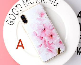 Ship from USA- Patterned Silicone Full Cover Case for iPhone X Soft Silicone Case Back Cover for IPhone X