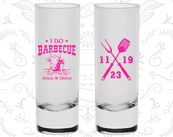 I Do BBQ Wedding Shooters, Promotional Shooter Glasses, I Do Barbecue Wedding Shooters, Wedding BBQ Shooters, BBQ Cow, Custom Shooters (47)