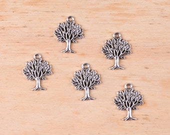 Tree charm antique silver • Tree of life charm pendant • Big tree necklace charm • Jewelry charms • Silver tone tree pendant • Tree charm