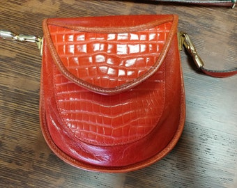 1980s Unique Leather Cross-body or Belt Bag by Lombardo