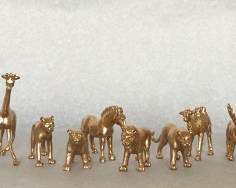 Gold/Silver Metallic Animals-Wild ONE-Safari Chic-Birthday-Wedding-Shower-Nursery-Decor-Decorations-Baby- Party-Favors-Cocktail Stirrers