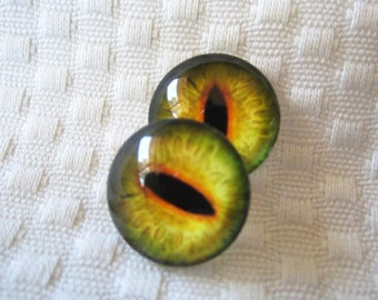 Glass dragon eyes for jewelry making or crafts 20mm cabochons