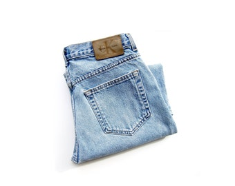 50% of Proceeds go to Planned Parenthood! Vintage 90s Calvin Klein Jeans, Boyfriend Jeans, Blue Stonewash, Union Made, Easy Fit Jeans, 32x30