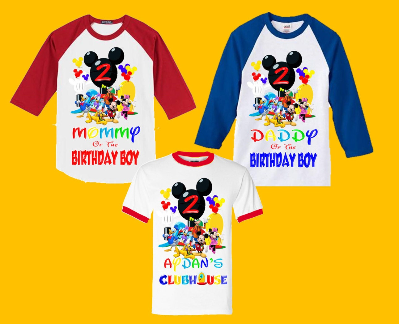 Mickey Mouse Clubhouse Birthday Shirt Family Shirts