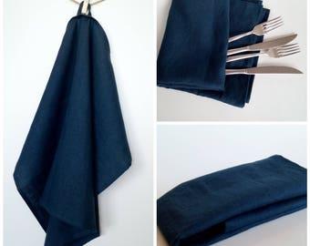 Linen Kitchen Towel – Dark Blue, Dish Towel, Tea Towel