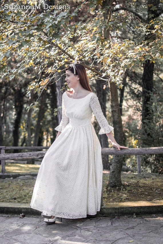 Cream Ivory 50s Wedding Dress Full Skirt Bridal Dress Original